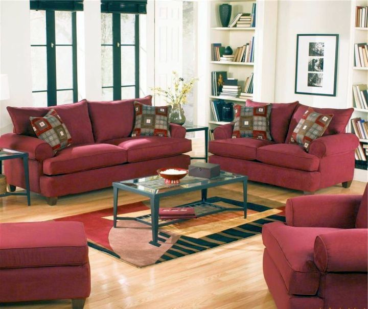 Captivating 18 Maroon Living Room Furniture And Interior Design Ideas