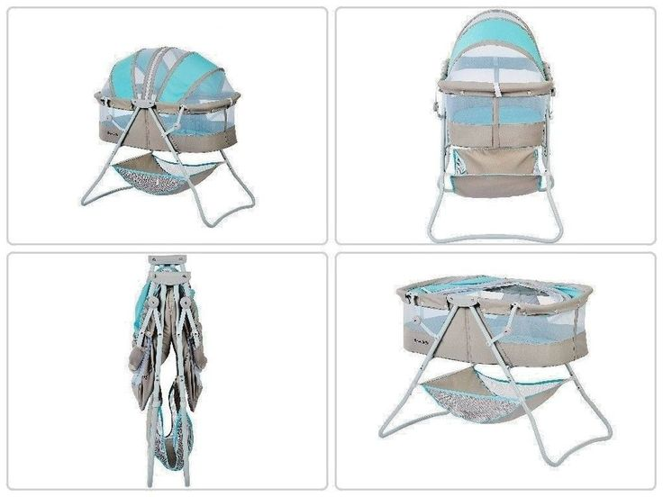 Portable #Baby #Sleeper #Bassinet Blue/Gray Infant #Folding #canopy #Nursery Newborn