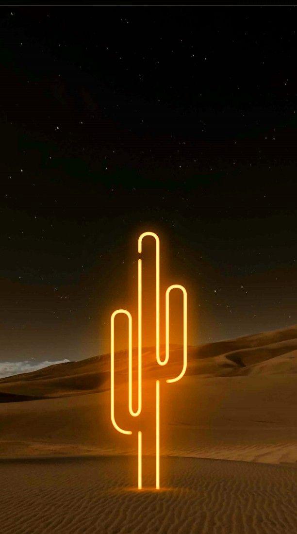 Cactus Neon Neon Wallpaper Neon Cactus Neon
