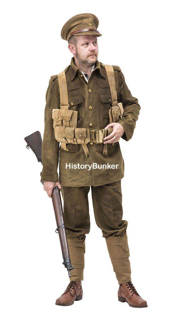WW1 British Army soldiers uniform Mons 1914