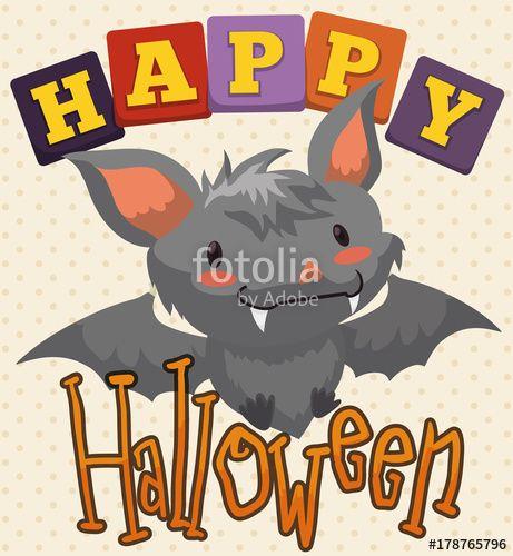 Cute Baby Bat for Halloween Celebration for Kids