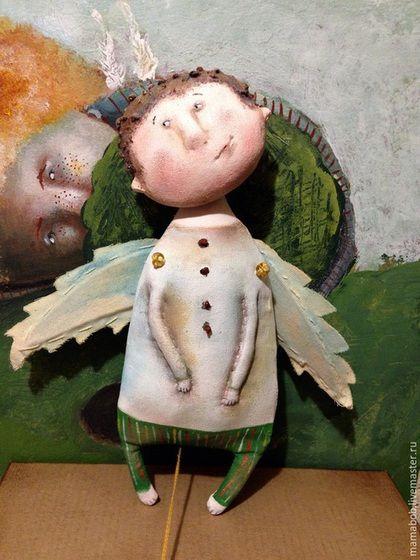 Коллекционные куклы ручной работы. Ярмарка Мастеров - ручная работа. Купить Ванечка ( крылья подвижны). Handmade. Голубой, ангел
