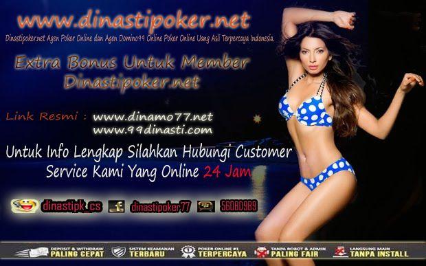 Salam pecinta poker online indonesia kami agen poker online uang asli indonesia  menyediakan 5 permainan dalam 1 website untuk  semua pecinta poker online  nikmati kenyamanan bermain dan nikmati promo-promo dari dinastipoker.net bonus yang tak kalah banyak ini akan membuat anda semakin semangat untuk bermain terus di dinastipoker.net #PokerOnline #DominoQQ #BandarQ #CapsaSusun #AduQ
