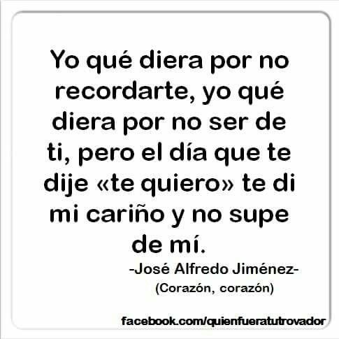 Corazón. Jose Alfredo Jimenez.