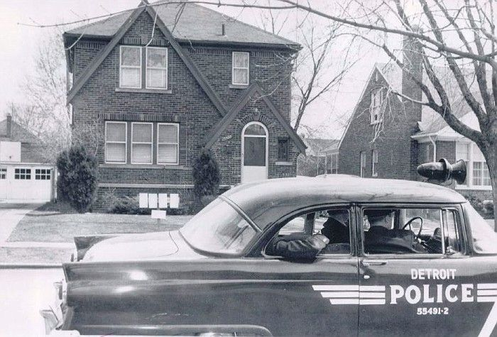 detroit police cars pictures | Photo: MI- Detroit Police 1955 Ford | Central and Midwest states album ...