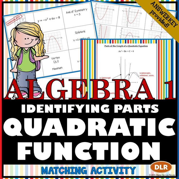 Identifying the parts of the quadratic equation matching