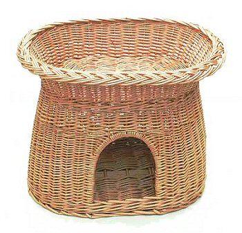 2-Storey Wicker Cat Basket