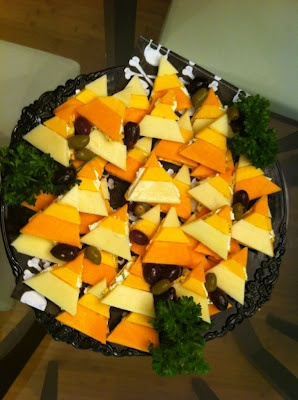 Candy Corn Cheese And Crackers A Great Halloween Snack