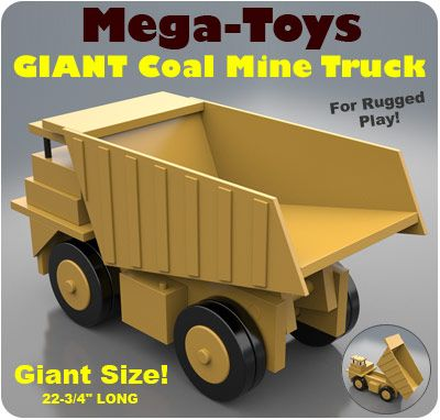 Mega Toys Giant Coal Mine Truck Wooden Toys Toys Wood
