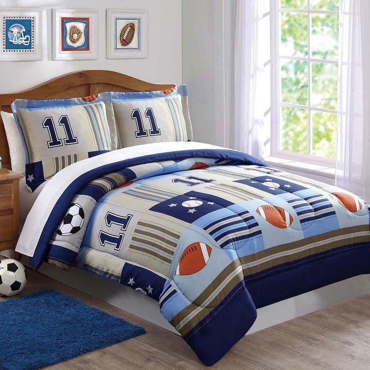 Denim and Khaki Sports Kids Comforter Set