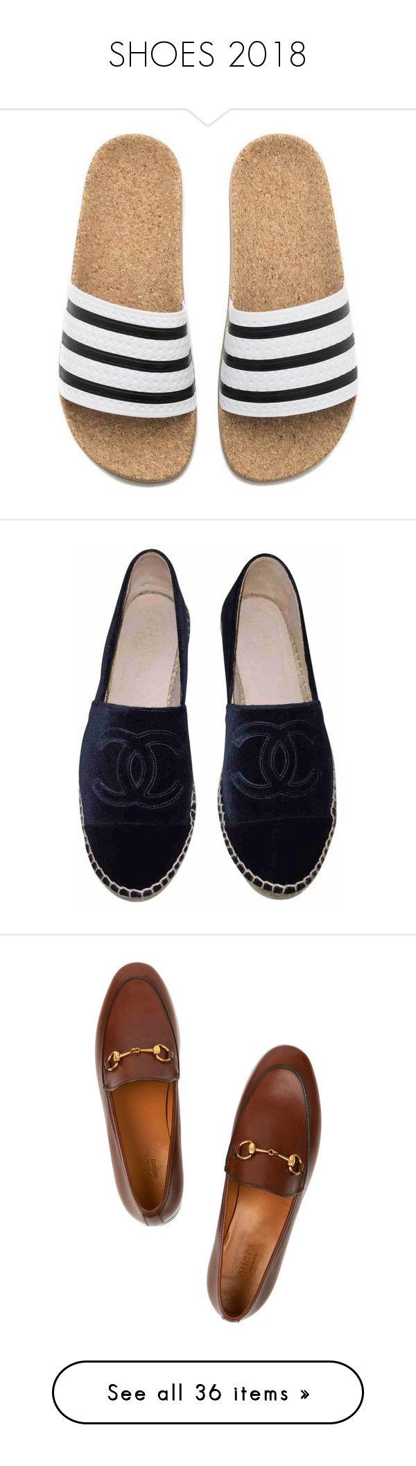 """SHOES 2018"" by vikisi ❤ liked on Polyvore featuring shoes, sandals, flip flops, momma shoes, slide sandals, brown flip flops, white summer sandals, cork flip flops, white summer shoes and flats"