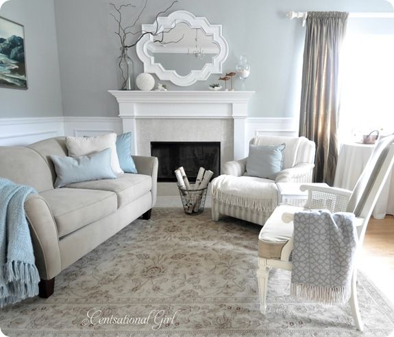 Love me some neutrals brings a calmness to this room a girl can dream home decor for Calming colors for living room