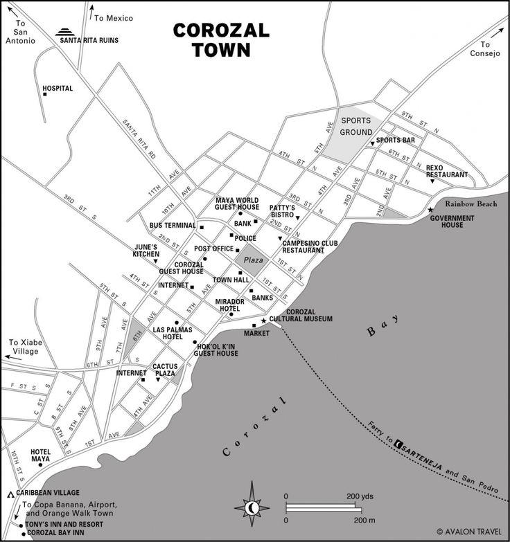 Corozal Town Map - corozal belize • mappery