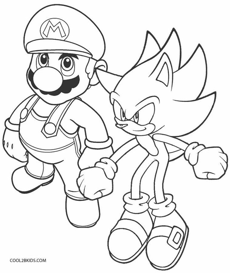 Drawing And Coloring Games Free Online Printable Sonic Coloring Pages For Kids Cool2bKids