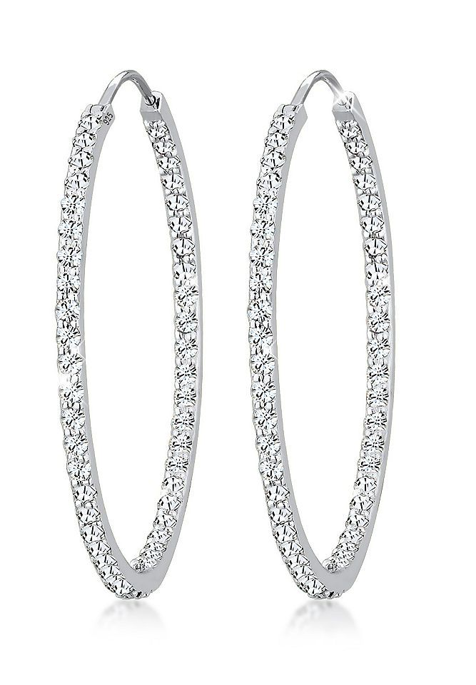 Elli Ohrringe »Creolen Swarovski® Kristalle 925 Sterling Silber« Jetzt bestellen unter: https://mode.ladendirekt.de/damen/schmuck/ohrringe/ohrstecker/?uid=aa92bfcb-6801-5e17-b9bf-91d3bbd98794&utm_source=pinterest&utm_medium=pin&utm_campaign=boards #schmuck #ohrringe #ohrstecker #ohrschmuck