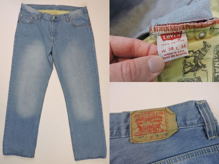Vintage Levi's 501 Jeans Made in the USA #levisvintageclothing #501 #denim #MadeinUSACoat