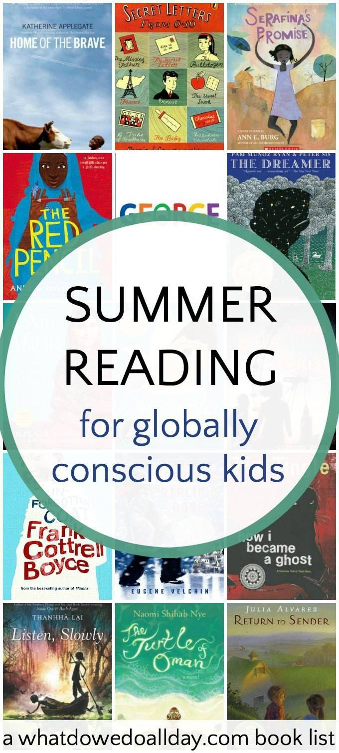 Great choices for middle school kids. 6th grade summer reading list, good for learning about global issues and other cultures.