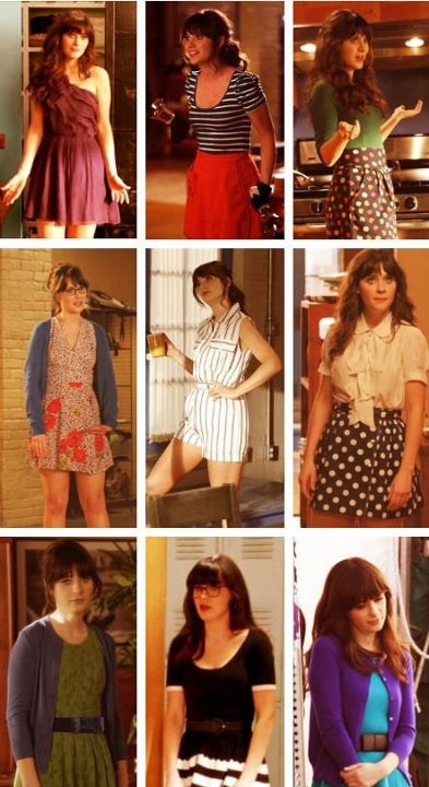 Zooey as Jess Day. So many great outfits here!