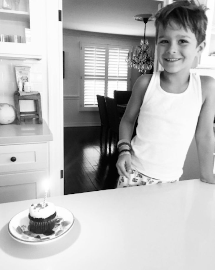 Selma Blair has shared an adorable photo of her son Arthur Saint celebrating his 6th birthday. The actress shares her son with her ex-partner, Jason Bleick. The 45-year-old actress shared a black-and-white photo of her cutie and his birthday cupcake on her Instagram account. She captioned her photo