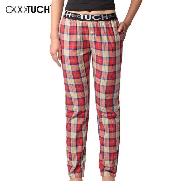 Lounge Pants Slacks Women Sleep Bottoms Cotton Plaid  Pijama Pants Home Clothing Breathable Comfort Sleepwear pajama G 2506