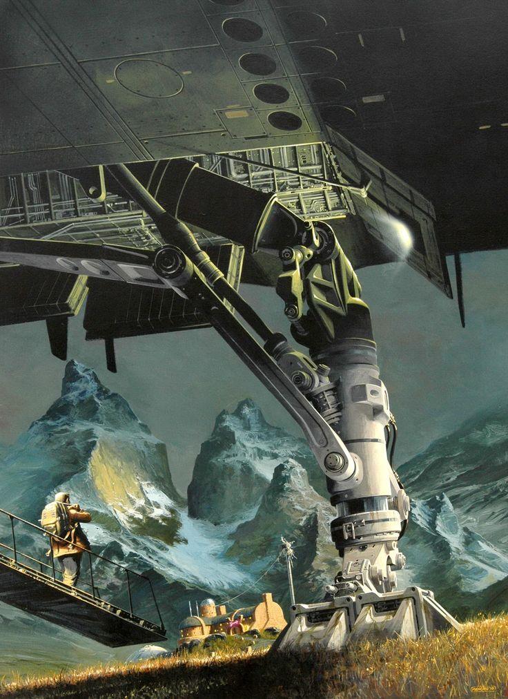 "Phillippe ""Manchu"" Bouchet #art #artwork #scifi #sciencefiction #illustration"