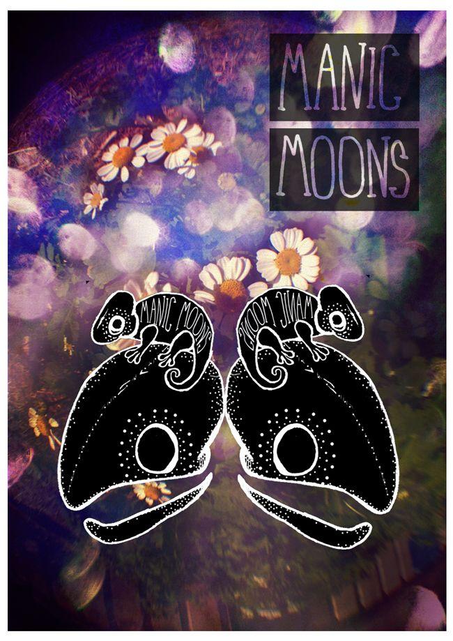 Manic Moons Poster Design- Music