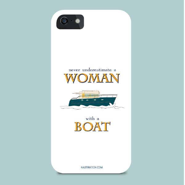 Smart Phone Cover - Woman with a boat | Nautination gifts for sailors, boaters…