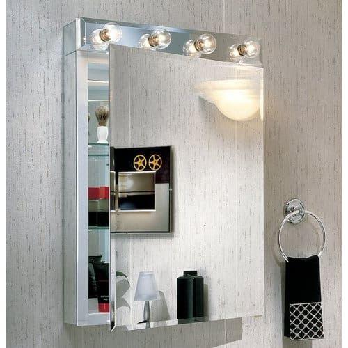 Robern MTL20T M Series Four Light Bathroom Vanity Strip Silver Light Indoor Lighting Bathroom Fixtures Vanity Strip
