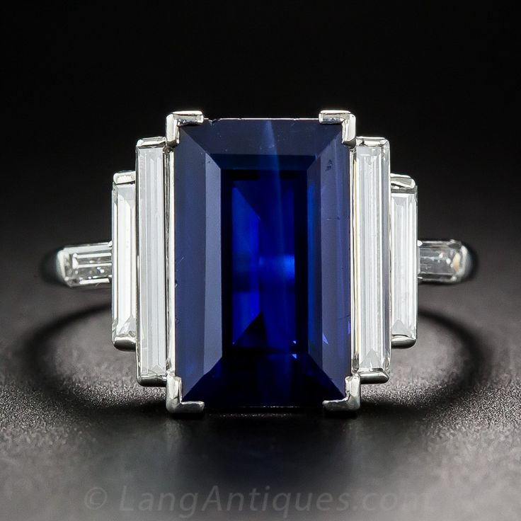 Emerald Cut Sapphire Ring Uk