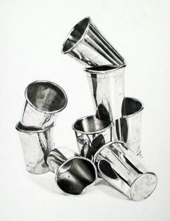 Reflective Study, graphite pencil drawing - Conway High School Art Project