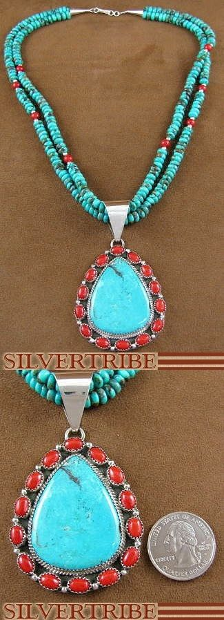 Native American Jewelry Turquoise Coral
