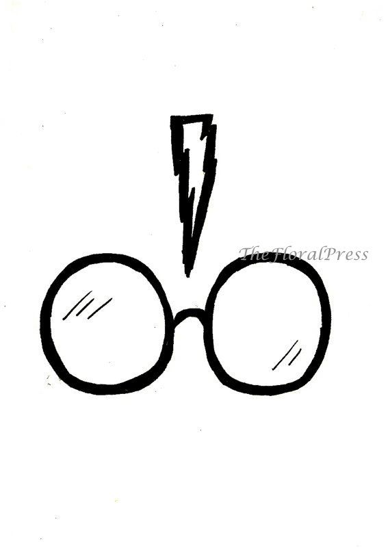 potter harry easy drawings drawing glasses simple draw cartoon chibi sketch scar along clipartmag doodles cool step lightning styles explore