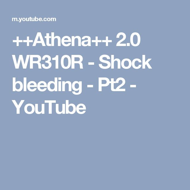 ++Athena++ 2.0 WR310R - Shock bleeding - Pt2 - YouTube