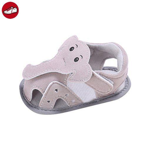 CHENGYANG Babyschuhe Mädchen Jungen Schuhe Sommer Sandalen Neugeborene Lauflernschuhe (Grau, 13) - Kinder sneaker und lauflernschuhe (*Partner-Link)