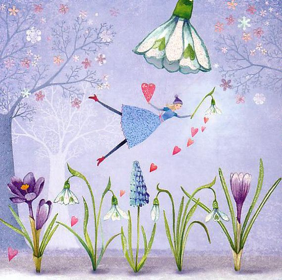 ♥ A square postcard with a lovely motive by Mila Marquis  ♥ Partially refined with glimmer  ♥ 14 * 14 cm  ♥ The article can selectively be sent