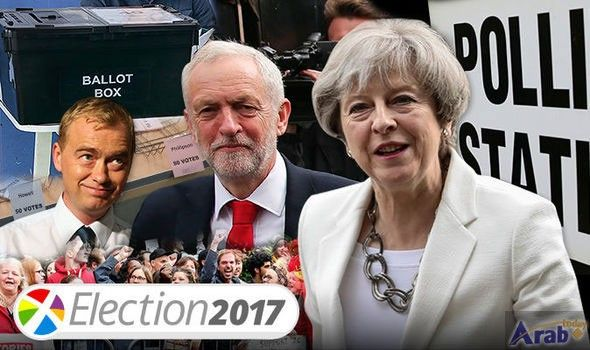 May ahead but set to lose majority in UK election: exit poll