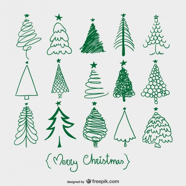 Christmas trees sketches