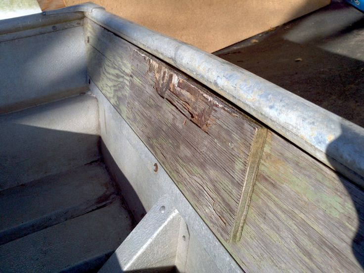Tinboats Net User Repaired Transom Boat Pinterest