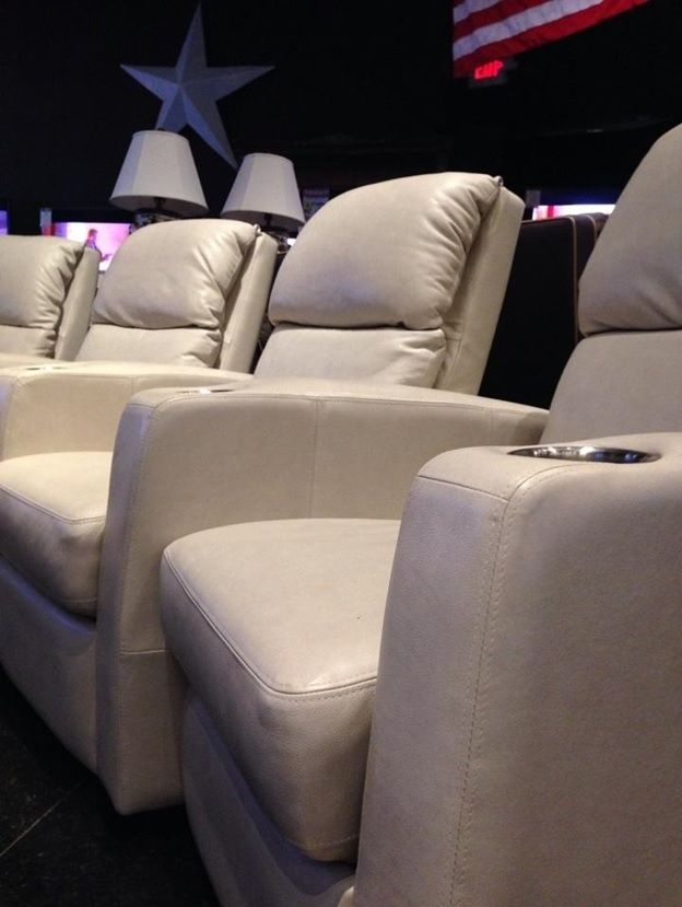 from Gallery Furniture   Upgrade your home theater room with our beautiful  leather theater seating  Equipped with cup holders. 66 best Home Theater   Game Room images on Pinterest