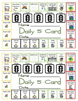 Daily 5 punch card