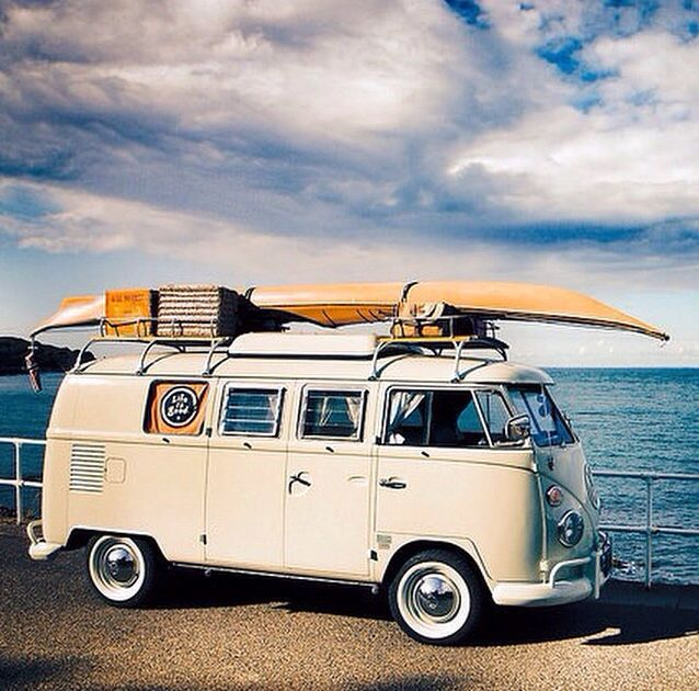 vw bus at the beach re pinned by. Black Bedroom Furniture Sets. Home Design Ideas