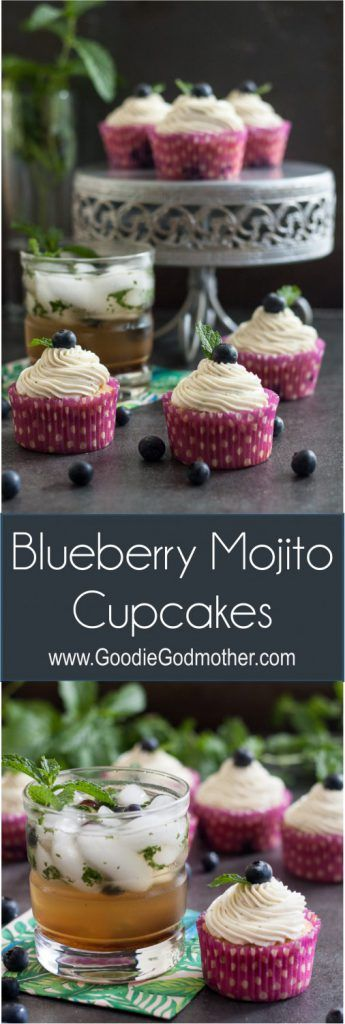 When you want to bring a little touch of happy hour to work, while still making something everyone can enjoy, blueberry mojito cupcakes are the answer! * Recipe on GoodieGodmother.com
