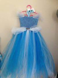 Cinderella tutu dress bodice is hand crochet