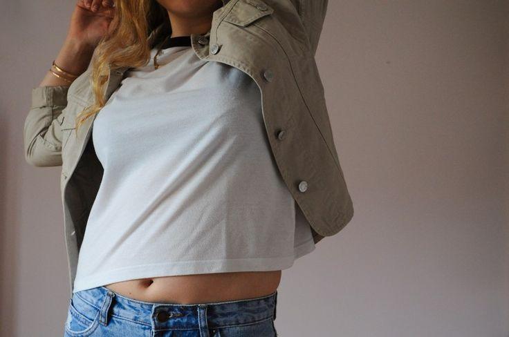 Veste en jean beige - vinted.fr