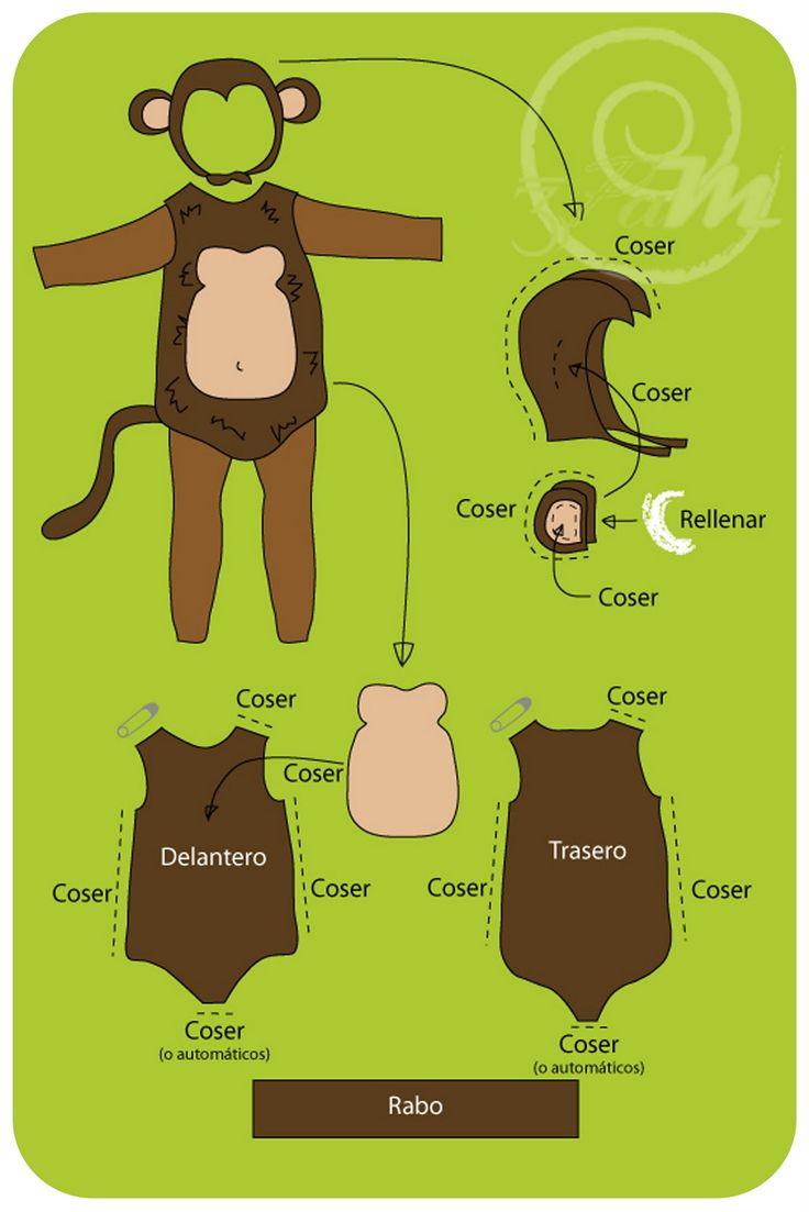 Tes Pes al Miayo: Tutorial Express: Disfraz de Mono