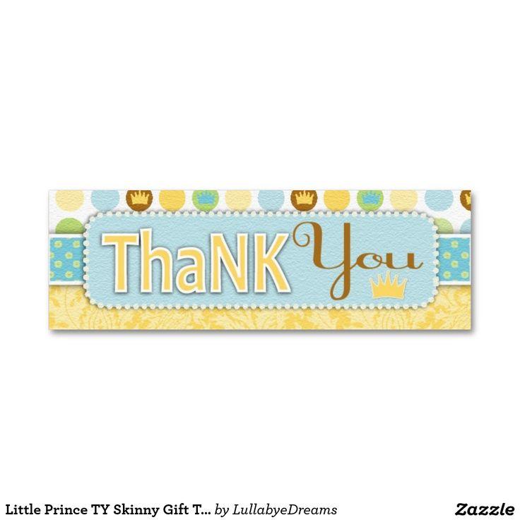 Tag magro pequeno do presente do príncipe TY Cartão De Visita Skinny