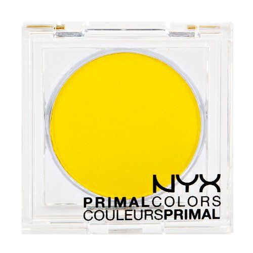 NYX - Primal Colors - Hot Yellow Pressed Pigment. NYX Cosmetics, Beauty Products, Cosmetic Products, For Lips and Eyes and Face.