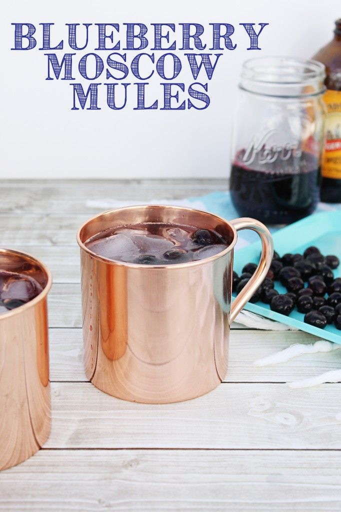 I can't wait to try this blueberry moscow mule! What an easy spring drink…