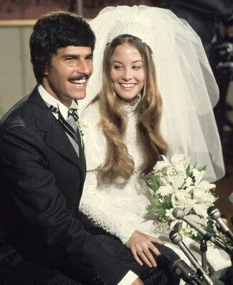 Olympic swimming 7x gold medalist at the 1972 Olympics, Mark Spitz with his bride, Suzy Weiner in 1973.