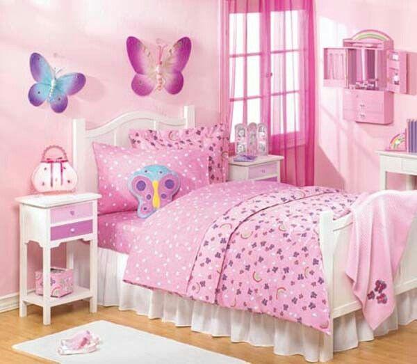 Cuarto de niña rosa con blanco | Decoracion cuarto niñas | Pinterest